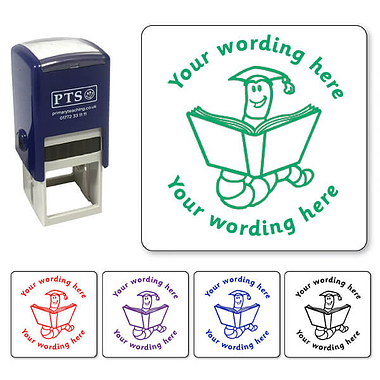 Customised Bookworm Stamper (25mm)
