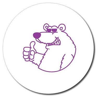 Personalised Polar Bear Stamper - Purple Ink (25mm)
