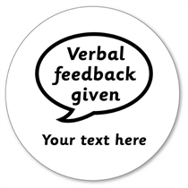 Customised Verbal Feedback Given Stamper - Black Ink  (25mm)
