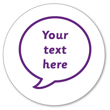 Personalised Speech Bubble Stamper Purple Ink (25mm)