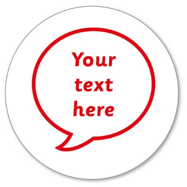 Personalised Speech Bubble Stamper Red Ink (25mm)
