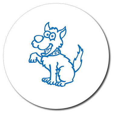 Personalised Dog 25mm Blue Ink Stamper