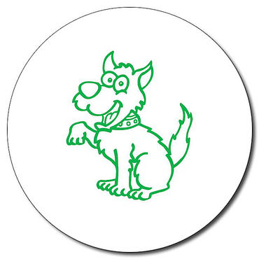 Personalised Dog 25mm Green Ink Stamper
