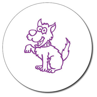 Personalised Dog 25mm Purple Ink Stamper