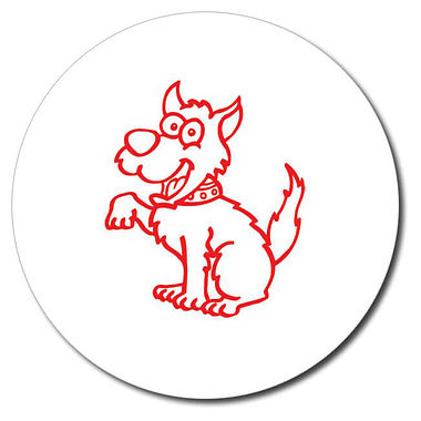 Personalised Dog 25mm Red Ink Stamper