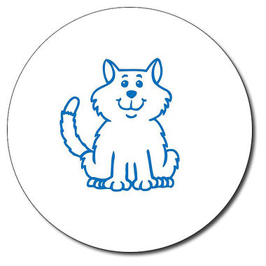 Customised Cat Stamper - Blue (25mm)