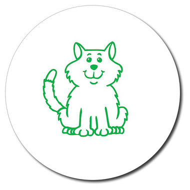 Customised Cat Stamper - Green (25mm)