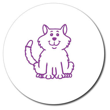 Customised Cat Stamper - Purple (25mm)