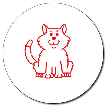 Customised Cat Stamper - Red (25mm)