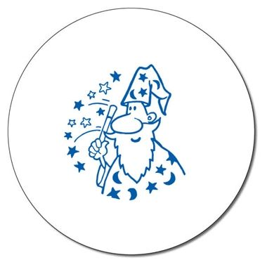Personalised Wizard Stamper - Blue Ink (25mm)
