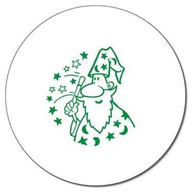 Personalised Wizard Stamper - Green Ink (25mm)