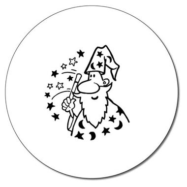Personalised Wizard Stamper - Black Ink (25mm)