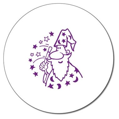 Personalised Wizard Stamper - Purple Ink (25mm)