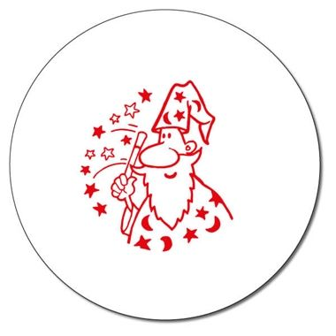 Personalised Wizard Stamper - Red Ink (25mm)
