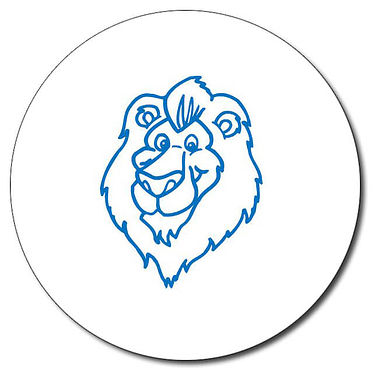 Personalised Lion Stamper - Blue Ink (25mm)