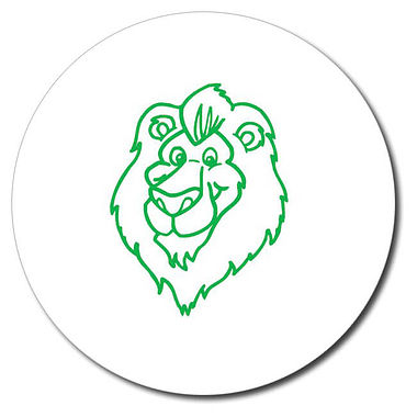Personalised Lion Stamper - Green Ink (25mm)