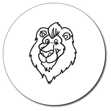 Personalised Lion Stamper - Black Ink (25mm)