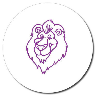 Personalised Lion Stamper - Purple Ink (25mm)