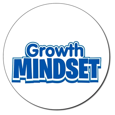 Personalised Growth Mindset Stamper - Blue Ink (21mm)