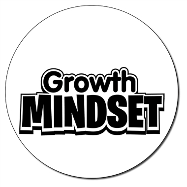 Personalised Growth Mindset Stamper - Black Ink (21mm)