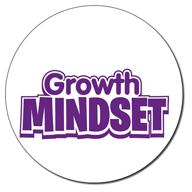Personalised Growth Mindset Stamper - Purple Ink (21mm)