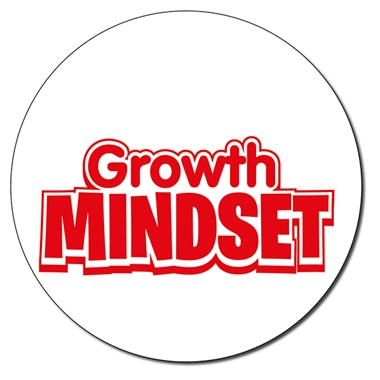 Personalised Growth Mindset Stamper - Red Ink (21mm)