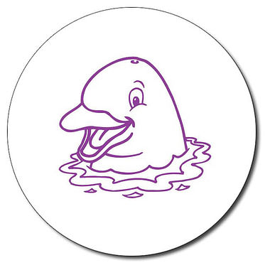 Personalised Dolphin Stamper - Purple Ink (25mm)