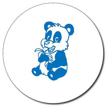 Personalised Panda Stamper - Blue Ink (25mm)