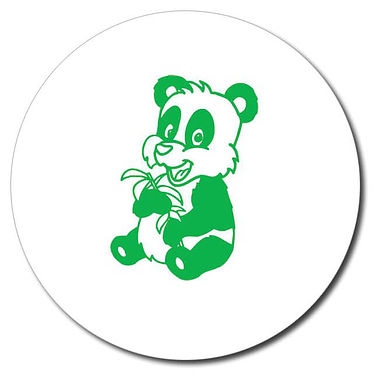 Personalised Panda Stamper - Green Ink (25mm)