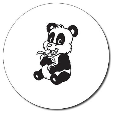 Personalised Panda Stamper - Black Ink (25mm)