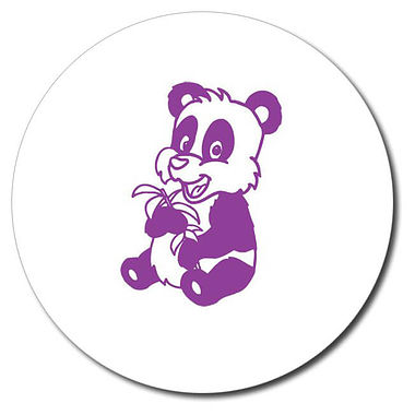 Personalised Panda Stamper - Purple Ink (25mm)