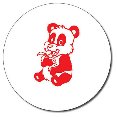 Personalised Panda Stamper - Red Ink (25mm)