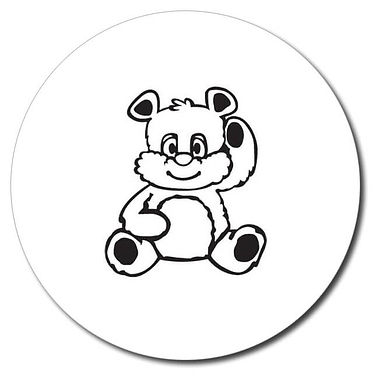 Personalised Teddy Bear Stamper - Black Ink (25mm)