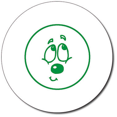 Personalised Expression Circle Bashful 25mm Green Ink Stamper