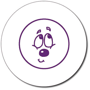 Personalised Expression Circle Bashful 25mm Purple Ink Stamper