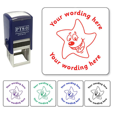 Personalised Happy Star Stamper (25mm)