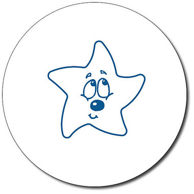 Customised Bashful Star Stamper - Blue Ink (25mm)