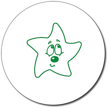 Customised Bashful Star Stamper - Green Ink (25mm)
