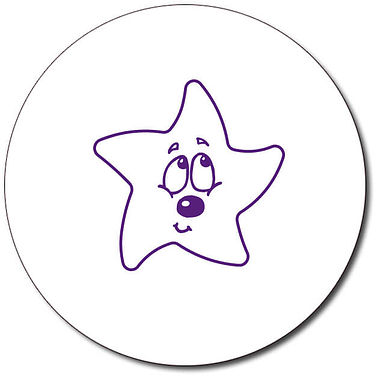 Customised Bashful Star Stamper - Purple Ink (25mm)