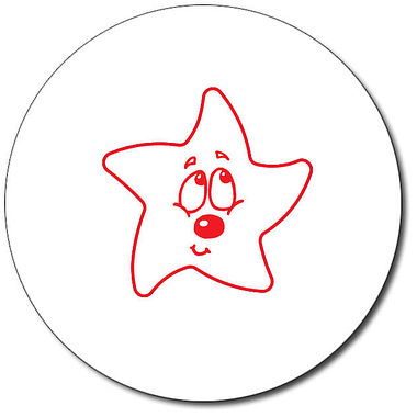 Customised Bashful Star Stamper - Red Ink (25mm)