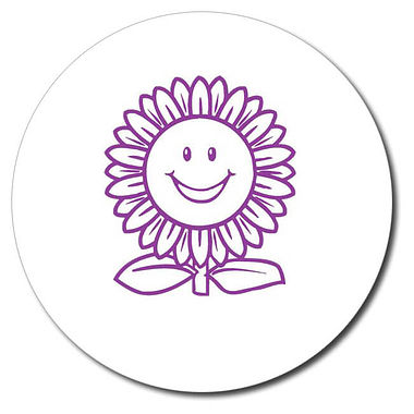 Personalised Sunflower Stamper - Purple Ink (25mm)