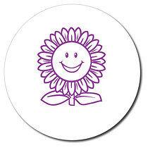 Personalised Sunflower 25mm Purple Ink Stamper