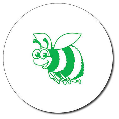 Personalised Bee Stamper - Green Ink (25mm)