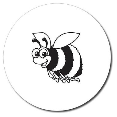 Personalised Bee Stamper - Black Ink (25mm)