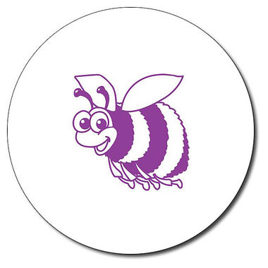 Personalised Bee Stamper - Purple Ink (25mm)