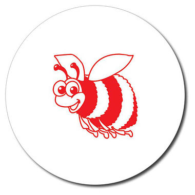 Personalised Bee Stamper - Red Ink (25mm)