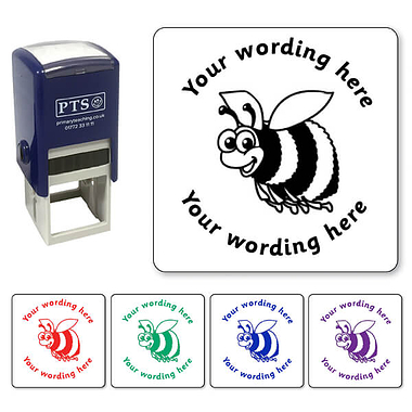 Personalised Bee Stamper (25mm)