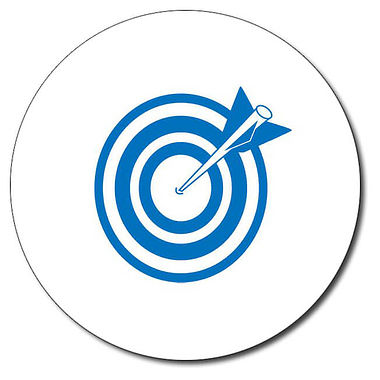Personalised Arrow and Target Stamper - Blue (25mm)