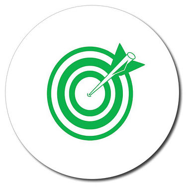 Personalised Arrow and Target Stamper - Green (25mm)
