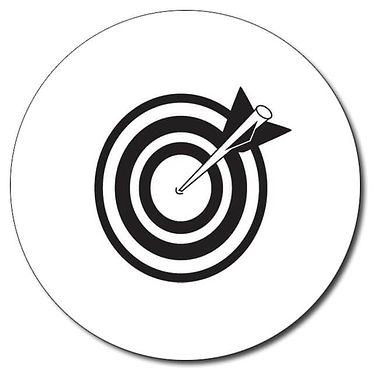 Personalised Arrow and Target Stamper - Black (25mm)